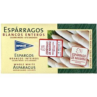 Hipercor Espárragos blancos enteros D.O. Navarra 6-12 piezas Lata 125 g neto escurrido