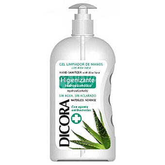 Dicora Gel higienizante de manos con aloe vera sin agua Dosificador 500 ml