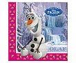 Servilletas desechables, estampado Olaf (frozen), 33x33cm., 20 unidades Disney Frozen