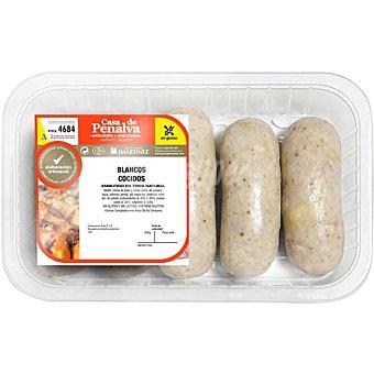 Casa de penalva Chorizo blanco cocido sin gluten y sin lactosa peso aproximado Bandeja 500 g