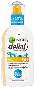 Delial Garnier Spray Solar, Aceite protector dorado sublime. Factor Protección 50 200 Mililitros