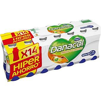 Danacol Danone Yogur líquido 0% natural Pack 14 unidades 100 g