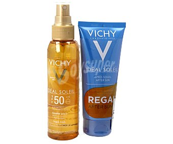 Vichy Aceite solar con factor de protección 50 125 ml + after sun de regalo 2 unidades