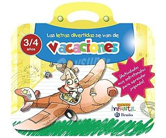 Bruño Las letras divertidas se van de vacaciones, 3-4 años, cuaderno de actividades, VV.AA. Editorial Bruño. Descuento ya incluido en PVP. PVP anterior: 3a