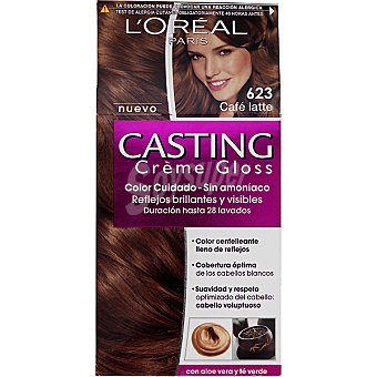 Casting Crème Gloss L'Oréal Paris Tinte cafe latte nº 623 caja 1 unidad