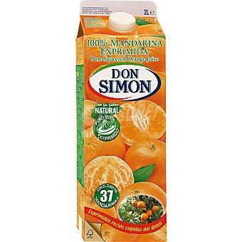 Don Simón Zumo de mandarina 100% exprimida Botella 2 l