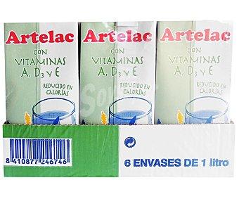 Artelac Preparado lácteo a partir de leche semidesnatada 6 x 1 l