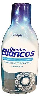 DELIPLUS ENJUAGUE BUCAL DIENTES BLANCOS (AZUL FUERTE) BOTELLA 500 cc