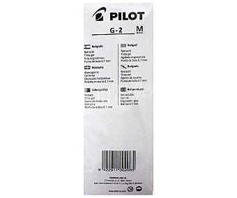 Pilot Lote de 3 bolígrafos retráctiles del tipo roller, con grip suave, punta media con grosor de escritura de 0.4 milímetros y tinta tipo gel de colores azul, roja y negra G2