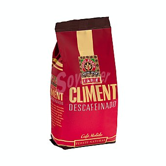 Climent Cafe molido descafeinado mezcla Paquete 250 g