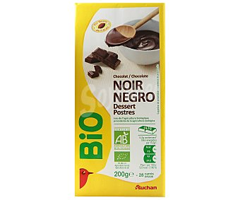 Auchan Chocolate negro escológico especial postres 200 gramos