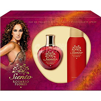 Rosario Flores Siento eau de toilette femenino vaporizador 100 ml + desodorante spray 150 ml 100 ml