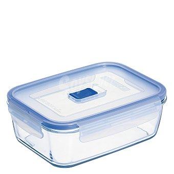 Luminarc Recipiente Hermetico Rectangular de Cristal Pure Box Active 0,122 L. - Transparente 1 ud