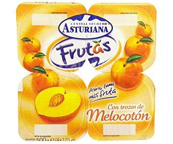 Central Lechera Asturiana Yogur con trozos Melocotón 4x125g