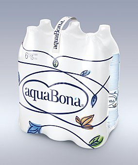 Aquabona Agua botella 6 botellas de 1,5l