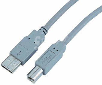 Auchan Cable usb- B Gris 1,8 Metros