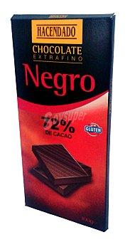 Hacendado Chocolate negro 72 % amargo Tableta 100 g