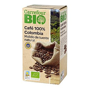Carrefour Bio Cafe molido natural 100% colombia 250 g