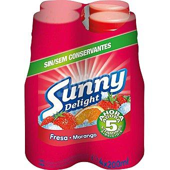 Sunny Delight Refresco de fresa Pack 4 unidades 200 ml