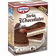 Tarta tres chocolates caja 270 g Dr. Oetker
