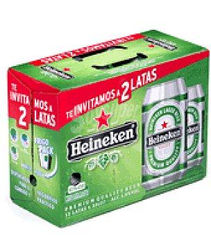 Heineken Cerveza Pack de 10 latas de 33 cl