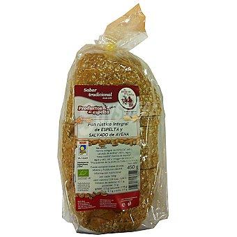 EL HORNO DE LEÑA pan rústico integral de espelta y salvado de avena  envase 450 g