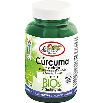 EL GRANERO Cúrcuma Bio con pimienta propiedades digestivas  envase 44 g