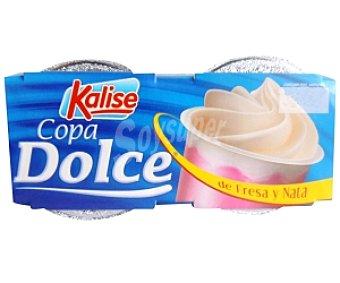 Kalise Copa Dolce de fresa con nata 2 Unidades de 125 Gramos