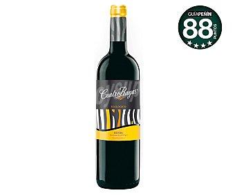 Cuatro Rayas Vino tinto roble ecológico con denominación de origen Rueda Botella de 75 cl
