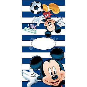 Disney Poncho infantil de Mickey con rayas azules 1 Unidad