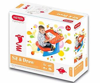 Rik&Rok Auchan Pupitre Infantil de 70 Centímetros Color Naranja y Azul 1 Unidad