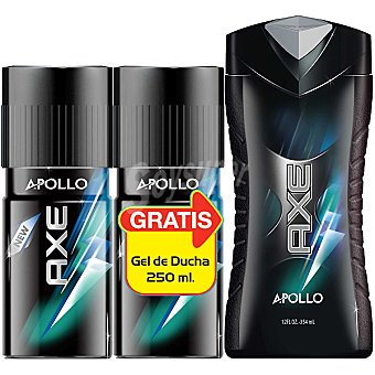 AXE desodorante Apollo + regalo gel de baño Apollo frasco 250 ml pack 2 spray 150 ml
