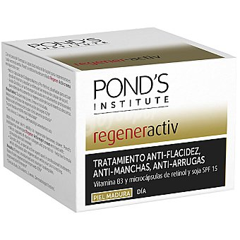 POND'S Institute Regener Activ Tratamiento anti-flacidez anti-manchas anti-arrugas tarro 50 ml con vitamina B3 y micro-cápsulas de retinol y soja para piel madura Tarro 50 ml