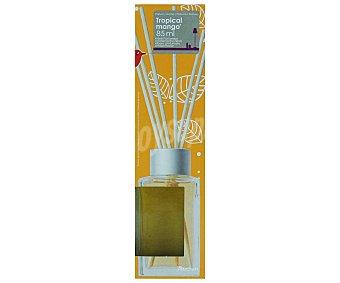 AUCHAN Difusor de varillas con perfume con olor a mango tropical, que nos evoca el olor embriagador de la primavera tropical y nos invita a llenar el alma de sensaciones 85 mililitros