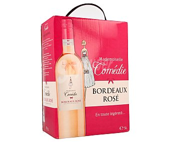 MADEMOISELLE COMÉDIE Vino rosado de origen Francés 3 l