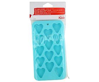 Auchan Badeja para cubitos de hielo con forma de corazón 1 Unidad