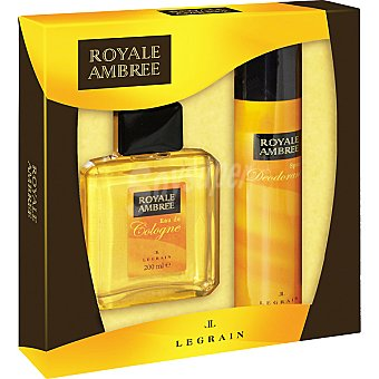 Royale Ambree eau de cologne + desodorante spray 250 ml Frasco 200 ml