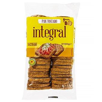 Hacendado Pan tostado integral Paquete 550 g