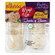 Flautas rellenas de jamón y bacon con mozzarella y toque de orégano wrap & go pack 2x137 g. La Santiña
