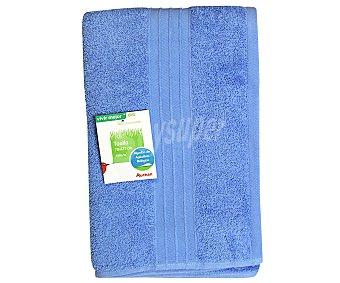 AUCHAN Toalla algodón bio para ducha, color azul, 70x127 centímetros 1 Unidad