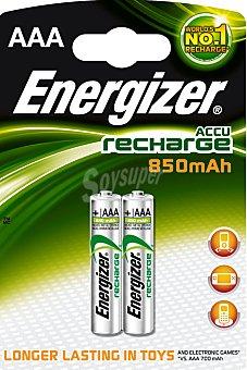 Energizer Pilas recargables AAA/HR03 850 mah 2 Unidades