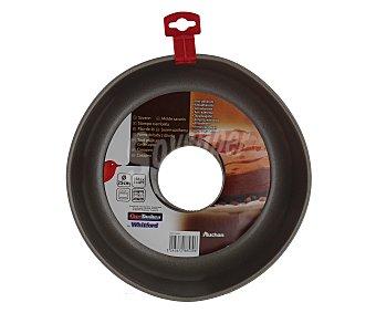 Auchan Molde de corona o savarín fabricado en metal antiadherente, 25 centímetros de diámetro auchan