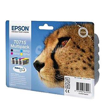Epson T0715 - Pack cartuchos de tinta (4 colores)