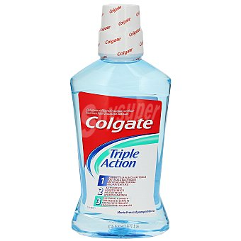 COLGATE enjuague bucal Triple Action menta fresca frasco 500 ml