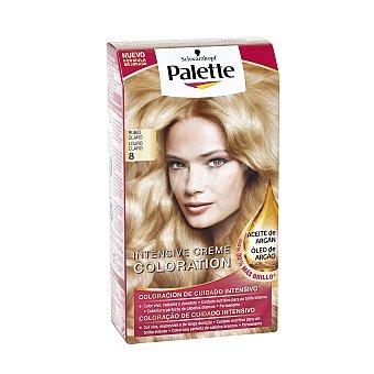 Palette Schwarzkopf Tinte Intense Color Cream rubio claro nº 8 coloración de cuidado intensivo Caja 1 u