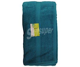 PRODUCTO ECONÓMICO ALCAMPO Toalla lisa de baño de algodón cardado, color turquesa, 100x150 centímetros 1 Unidad