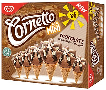 Frigo Cornetto Mini conos sabor chocolate Cornetto 6 unidades (360 ml)