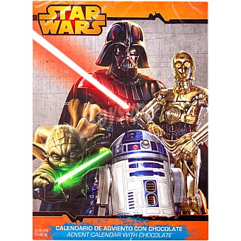 DEKORA STAR WARS calendario adviento de chocolate  unidad 50 g