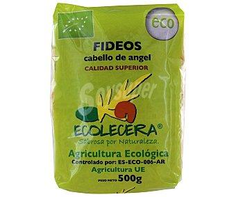 Ecolecera Fideos Cabellines Ecológicos, pasta de sémola de trigo duro de calidad superior 500 Gramos