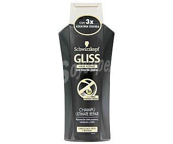 Gliss Champú Ultimate Repair con triple keratina líquida cabello muy seco y dañado frasco 300 ml Frasco 300 ml